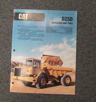 Cat Caterpillar D25d Articulated Dump Truck Dealers Brochure Manual 1989