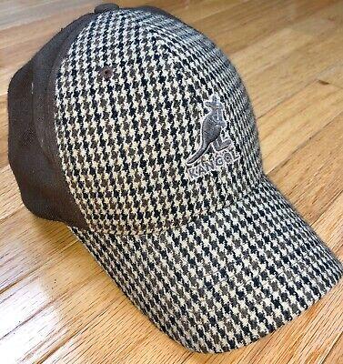 Kangol Flexfit Baseball Hat Large/XL Brown Bugati Tweed Cap Hiphop Rap Oldschool