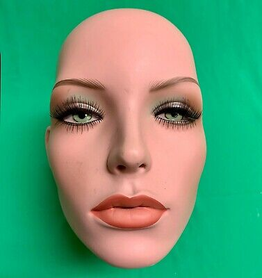 Realistic Female Woman Mannequin Head Wig Hat Jewelry Used Replacement Part