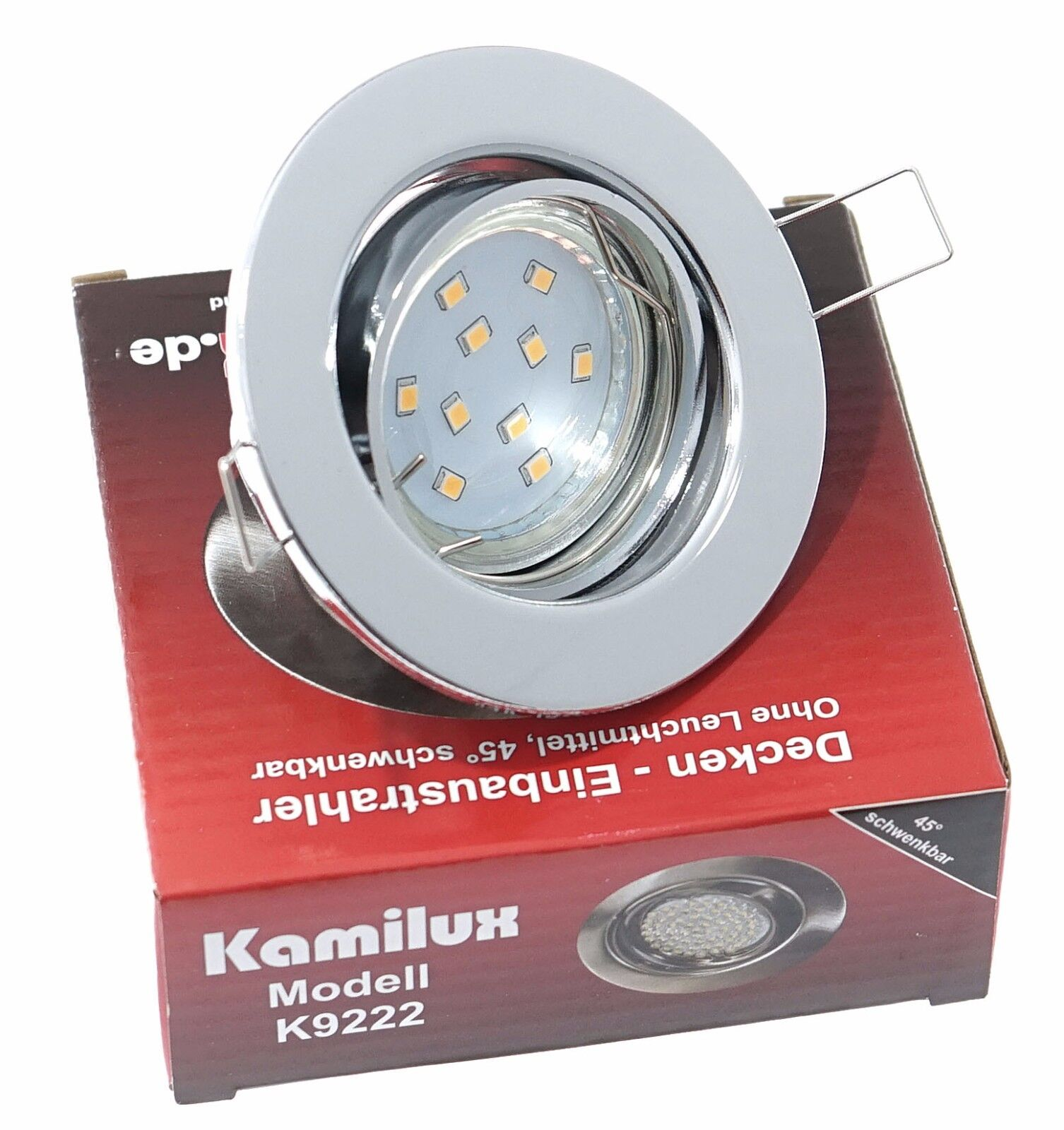 LED Einbau Deckenstrahler Spots 230V GU10 SMD 5W=50W TOM rund schwenkbar