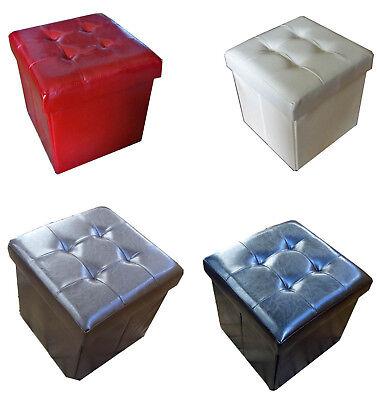 imbottita scatola SEAT, Sgabello, SGABELLO SEDIA A CUBO SALVASPAZIO POGGIAPIEDI