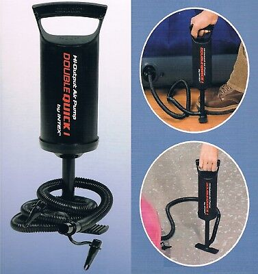 Double Action Push Pull Portable Manual Air Pump Inflator Airbeds & -