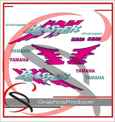 Yamaha Blaster Decals Replica Custom Full Set Replica Design 1992 Model White