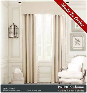 MADE TO ORDER GOOD DESIGN Curtains($14/m )+Lace($13/m)(No511) Nunawading Whitehorse Area Preview