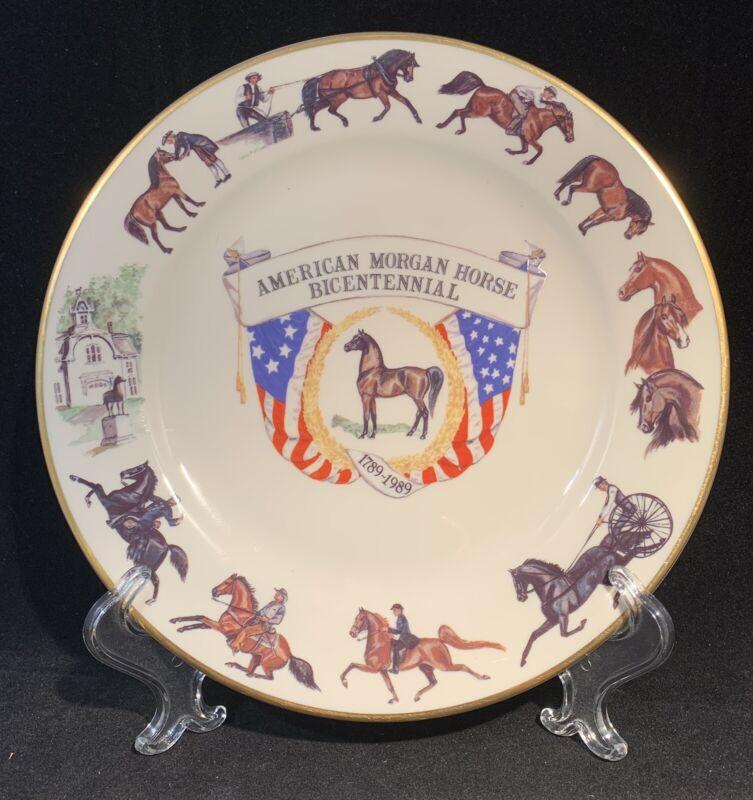 American Morgan Horse Association Bicentennial  Pickard Collector Plate c.1989