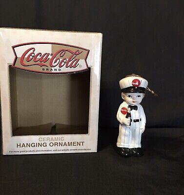 Coca Cola COKE Ceramic Christmas Tree Ornament Delivery Man ENESCO