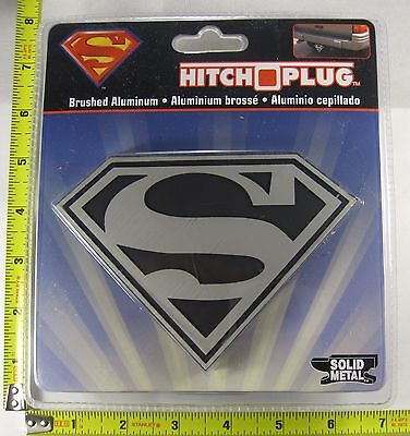 SUPERMAN HITCH COVER PLUG SOLID METAL TRUCK TRAILER NEW L887