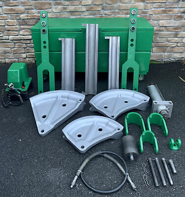 Greenlee 885te Hydraulic Pipe Bender 2-12-4emt 975 Pump Great Shape