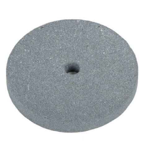 """8"""" Emory Style Bench Grinder Stone Wheel 1"""" Wide x 3/4"""" Arbor (Fine Grit)"""