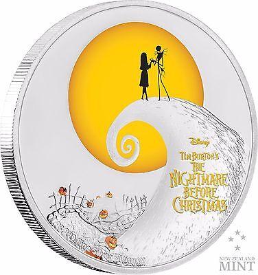TIM BURTON - DISNEY -  THE NIGHTMARE BEFORE CHRISTMAS - 1 OZ SILVER COIN