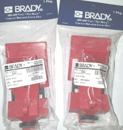 Brady 65397 Clamp-On Breaker Lockout QTY 2