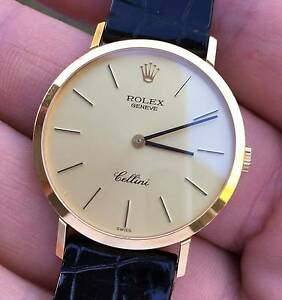 Rolex 18K Gold Cellini Watch, Case Reference 4112, Caliber 1601 Kenmore Brisbane North West Preview