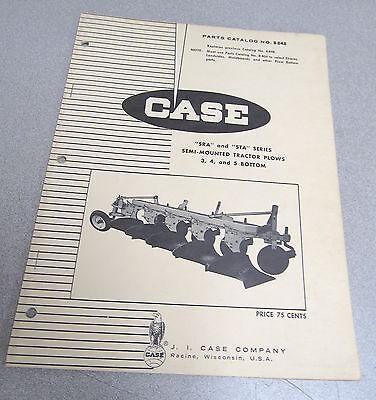 Case Sra Sta Series Semi Mounted Tractor Plow Parts Catalog Manual B848 1969