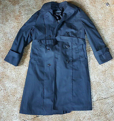 DSCP Military US Army Womens Trench Coat w/ Removable Lining 16S Black