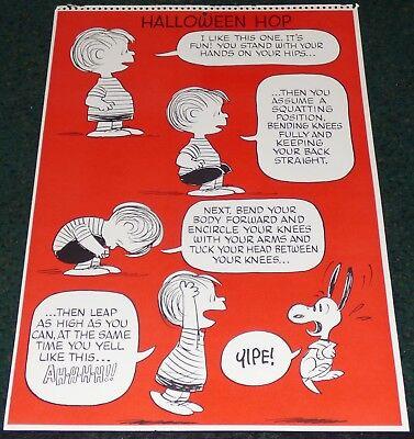 PEANUTS SNOOPY LINUS HALLOWEEN HOP VINTAGE 1960s WORKOUT EXERCISE POSTER](Peanuts Linus Halloween)