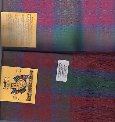 Tartan Sash Clan Lindsay Ladies Scottish Wool Plaid