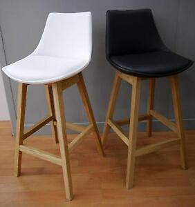New Scandi Danish Manor Timber Kitchen Counter Stools Black White Melbourne CBD Melbourne City Preview