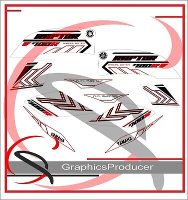 Yamaha Raptor 700 Replica Decals Graphics 700R Stickers White Fenders Set 2017