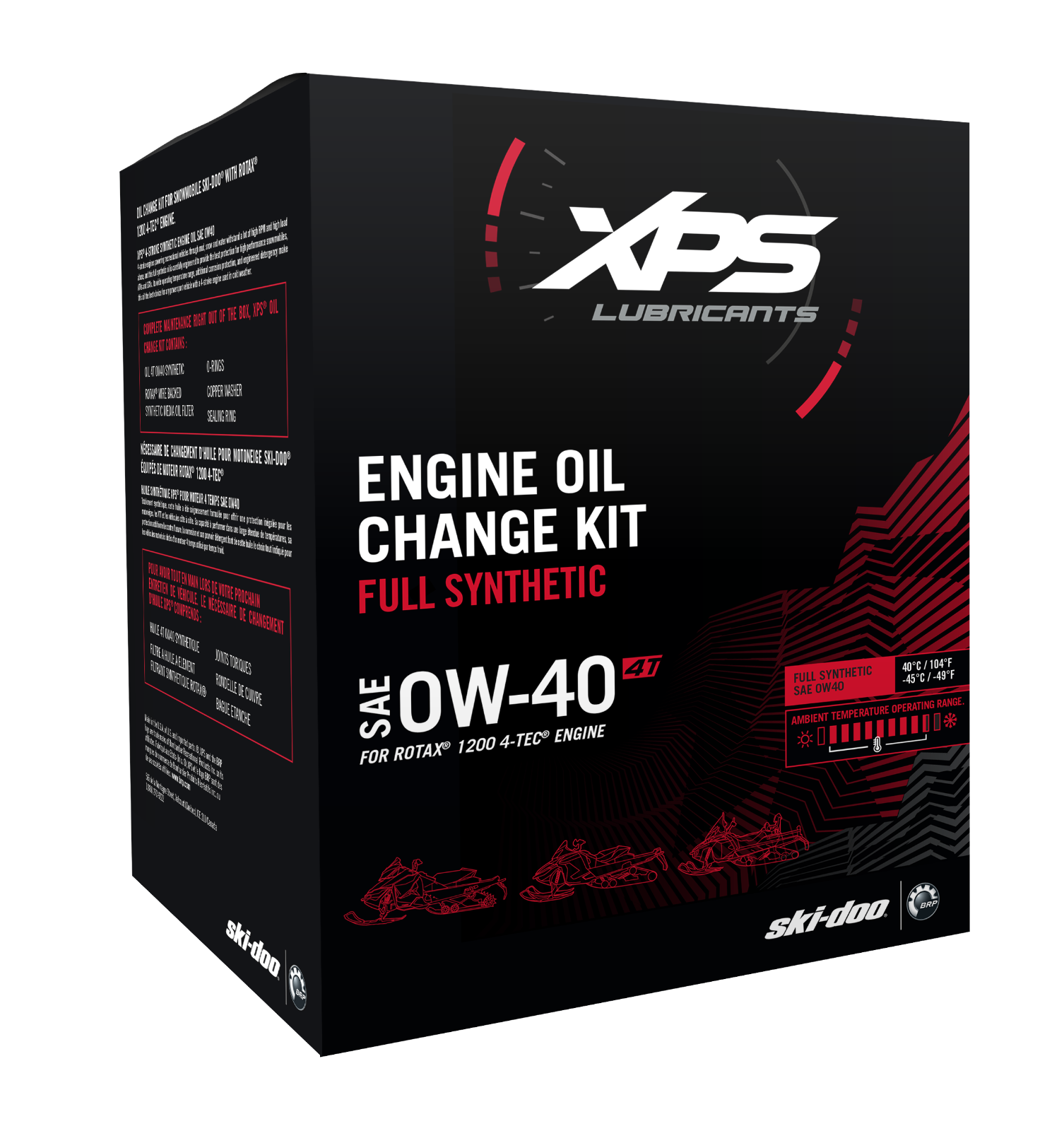 SKI-DOO 4T OW-40 SYNTHETIC OIL CHANGE KIT FOR ROTAX 1200 ENGINE - 779255