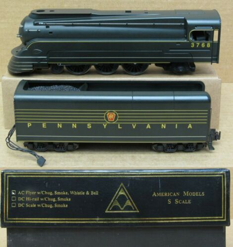 "American Models Pennsylvania K-4s Steam Engine ""Torpedo"" S-Gauge (AC/Hi-Rail)"