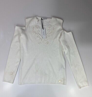 Versace Collection White Blouse Long Sleeve Shirt Size 48