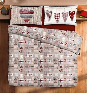 Copripiumino singolo tirolese cortina bianco rosso con patella ebay - Copriletto matrimoniale rosso ...