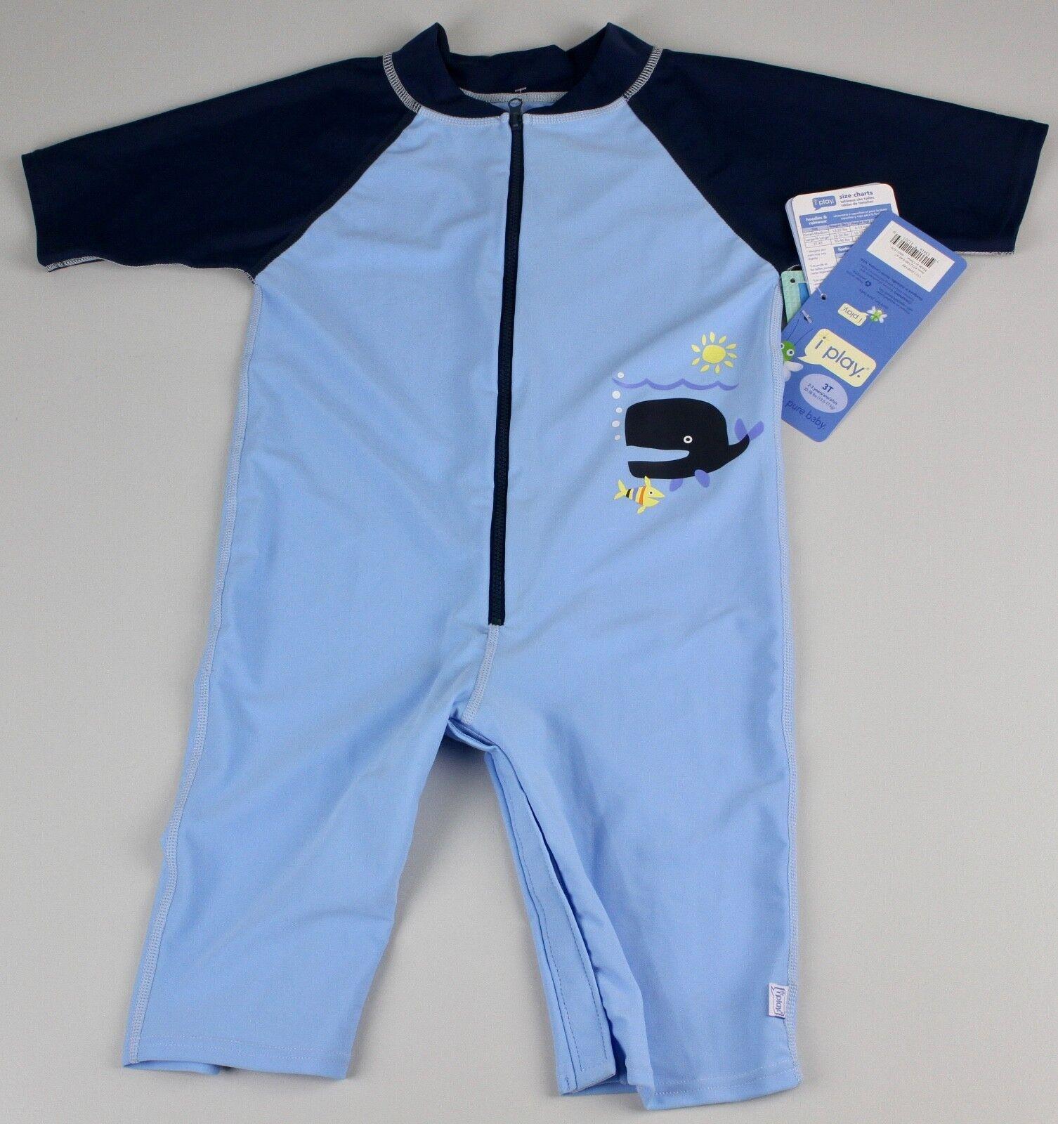IPlay Baby One Piece Swimsuit Anzug Blau Sonnenschutz 50+ 2-3 Jahre B6-WAL