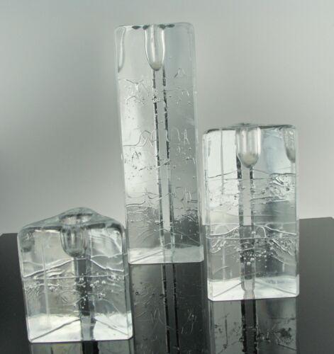 Ice Design Candlestick Set - Timo Sarpaneva for Iittala, Finland