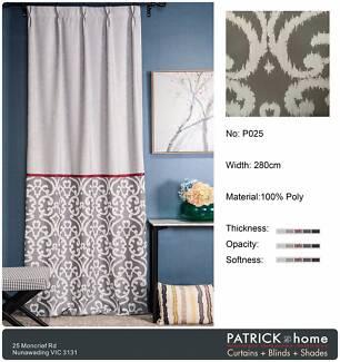 (P025)Super Jacquard Curtain(Silver Gray)-MADE TO ORDER