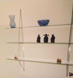 Glass display shelves in chrome frame (IKEA) Ashfield Ashfield Area Preview