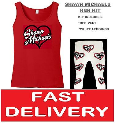 SHAWN HBK MICHAELS FANCY DRESS WRESTLING RETRO WRESTLER VEST & PANTS