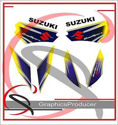 Suzuki LTZ250 Sticker Decals Stickers  Replica Full Set Graphics Yellow Model