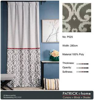 Curtains (P025) Super Jacquard (Silver Gray)