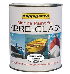 Supplyshed Marine Boat Gloss BRILLIANT WHITE Paint Fibreglass GRP, Gelcoat 750ml