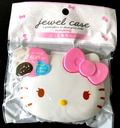 New SANRIO Hello Kitty Cute jewel case Box Pink accessory with sponge