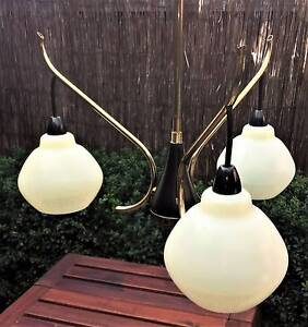Vintage 3 branch Pendant Light Golden Grove Tea Tree Gully Area Preview