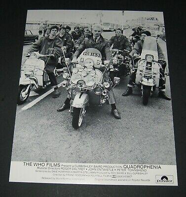 1979 QUADROPHENIA THE WHO 8 x10 MOVIE STILL LOBBY CARD - STING on a Lambretta