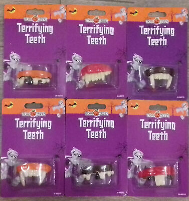 Halloween False Teeth Fangs Vampire Zombie Hillbilly Horror Buck Vampire (Hillbilly Teeth Halloween)