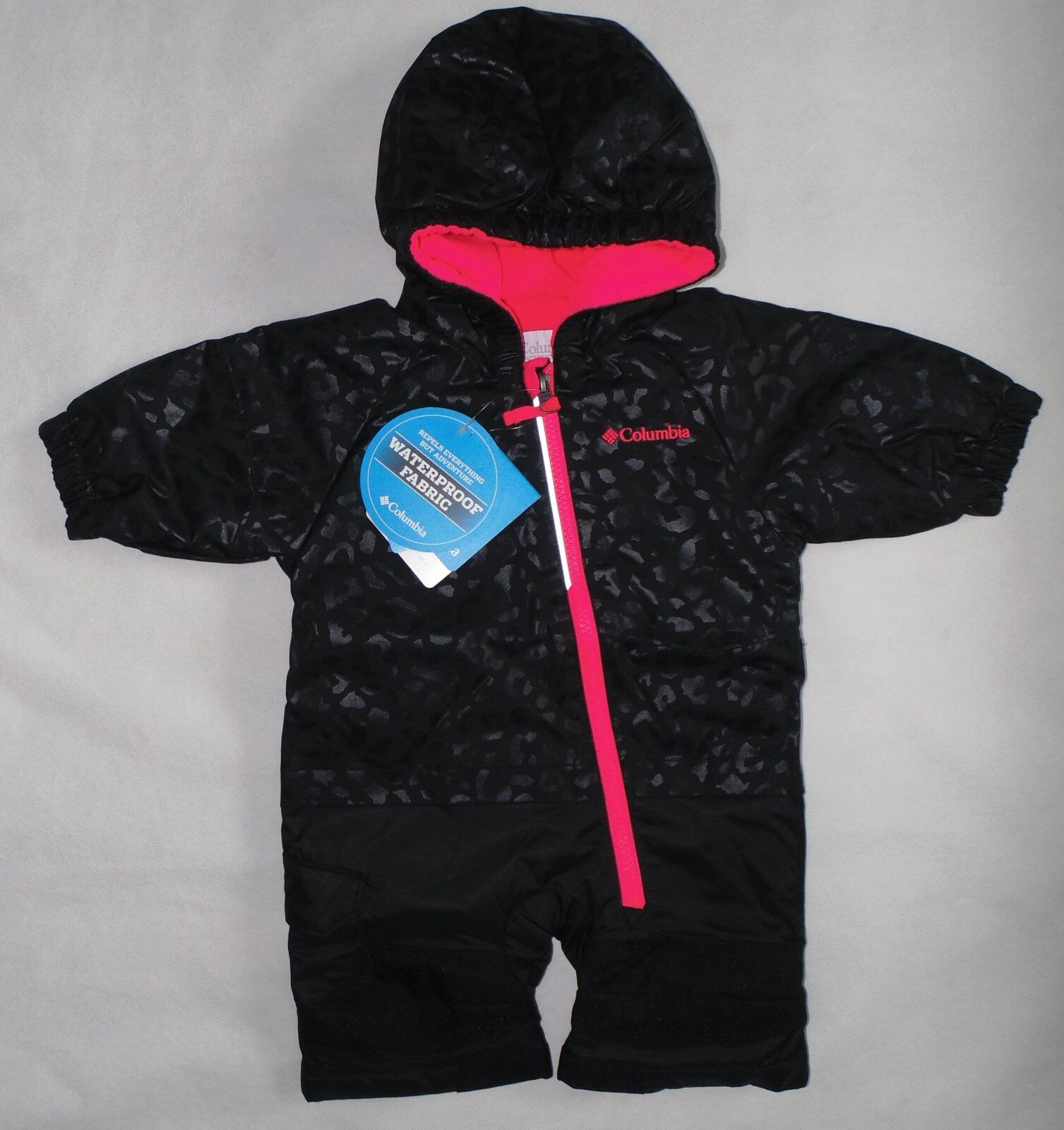 Columbia Baby Girl Size 3-6 Months Little Dude Snow Suit Black Cheetahlaser Red