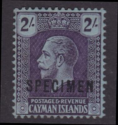 Cayman Islands. SG 80s, 2/- violet/blue, specimen. Fine mounted mint.