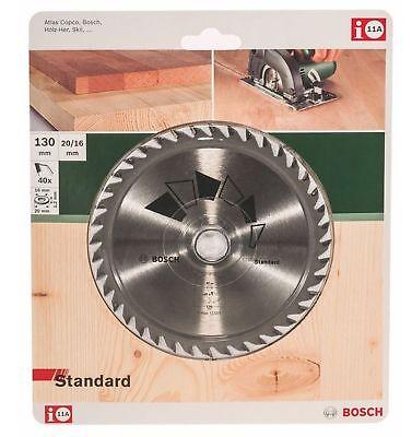 Bosch HM Kreissägeblatt 130 x 20 / 16 mm 40 Zähne Kreissägeblätter 2609256803