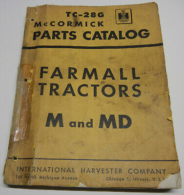 Farmall International Mccormick M Md Tc-28g Oem Factory Parts Catalog