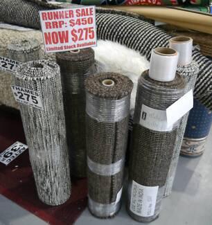 RRP.$450 New Bayliss Thames 4 Meter Wool Flatweave Hall Rugs