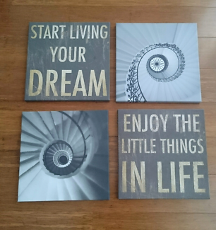 Four piece canvas wall art set