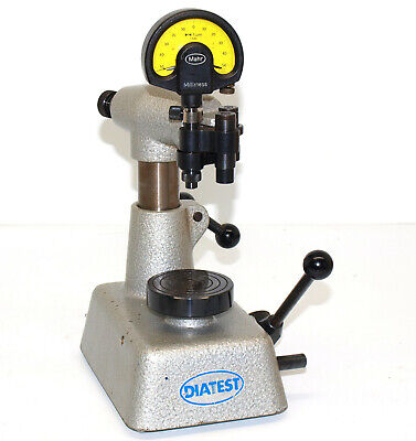 Diatest Dial Bore Gage Stand With Flo Holder And Mahr Millimess Indicator