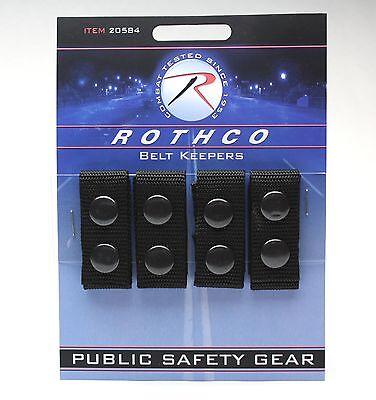 Belt Keepers Black 1680 Denier Polyester Police Duty Rig Belt Keepers - 4 Pack