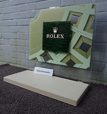 ROLEX dealer DEALERDISPLAY + TRAY leather WAVES 100% authentic DISPLAY roldeco