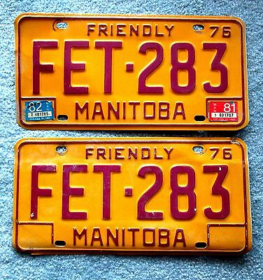 1976 Manitoba License Plate FET-283 BUY ONE OR TWO hhu2