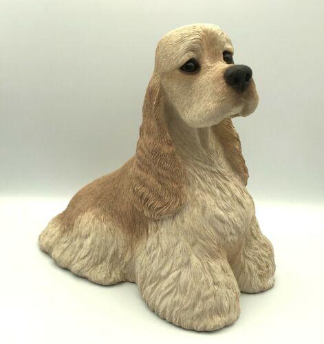 "Sandicast Blond Buff COCKER SPANIEL Vintage 1989 Dog Large Figure 8X9"" Realistic"
