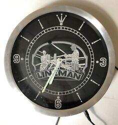 AdvPro Power Lineman Vintage Design Illuminated Wall Clock Electrician LED Watch